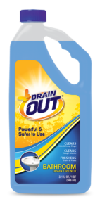 Drain OUT Bathroom Drain Opener & Cleaner Package Front; 32 fl oz; SKU DOB32B