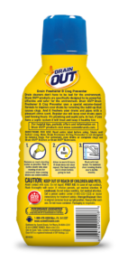 Drain OUT Drain Freshener & Clog Preventer Package Back; 16 fl oz; SKU DOF01B