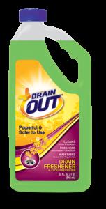 Drain OUT Drain Freshener & Clog Preventer Package Front; 32 fl oz; SKU DOF32B