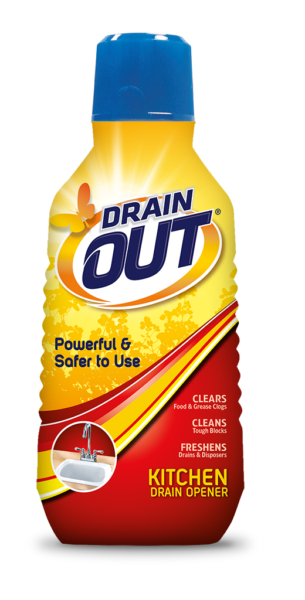 Drain OUT Kitchen Drain Opener U0026 Clog Remover Package Front; 16 Fl Oz; SKU