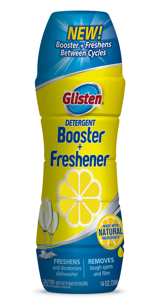 Glisten Dishwasher Detergent Booster + Freshener Package Front; 14 oz; SKU DM16B