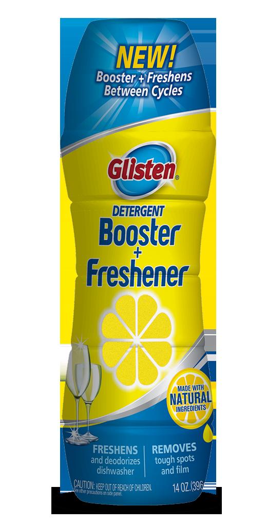 Glisten Dishwasher Detergent Booster + Freshener Package Front; 14 oz; SKU DM16B