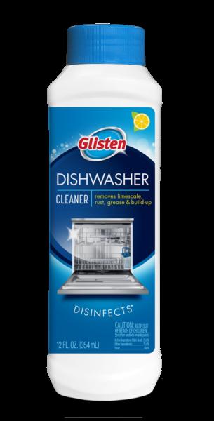 Glisten Dishwasher Magic - Dishwasher Cleaner Package Front; SKU DM01B