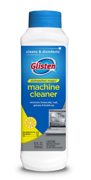 Glisten Dishwasher Magic - Dishwasher Cleaner Package Front; SKU DM01B