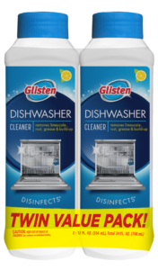 Glisten Dishwasher Magic - Dishwasher Cleaner Package Front; Twin Pack; SKU DM02S