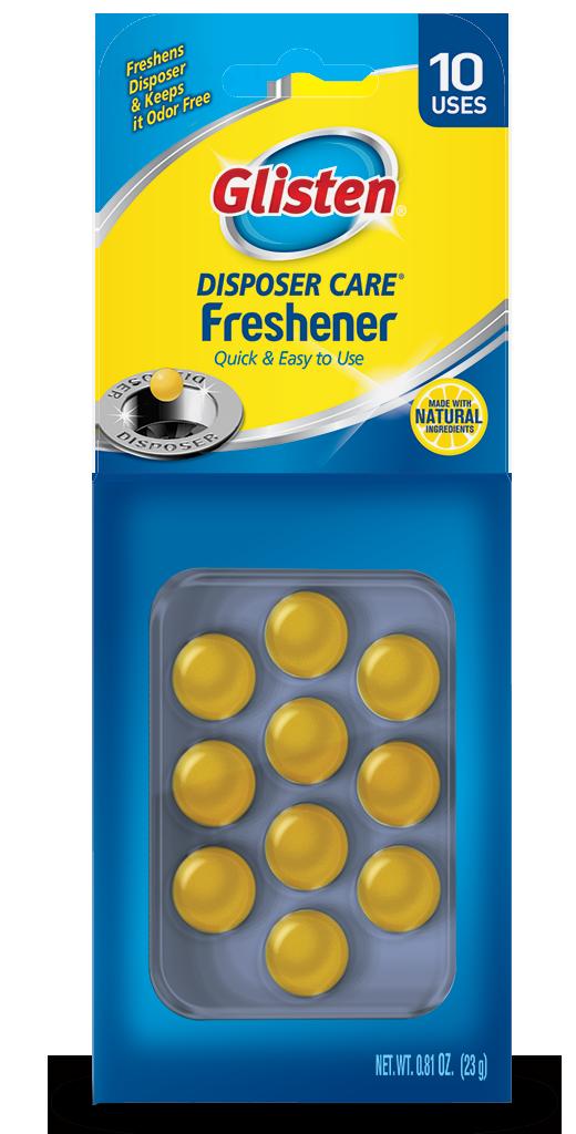 Glisten Disposer Care - Garbage Disposal Freshener Package Front; SKU DPLM01B