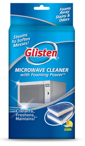 Glisten Microwave Cleaner Package Front; SKU MW01