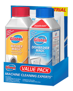 Glisten<sup>&reg;</sup> Appliance Value Pack - Washer Magic and Dishwasher Magic machine cleaners