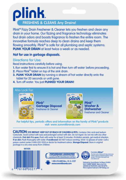 Plink® Fizzy Drain Freshener & Cleaner – Fresh Lemon