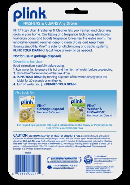 Plink® Fizzy Drain Freshener & Cleaner – Fresh Lemon
