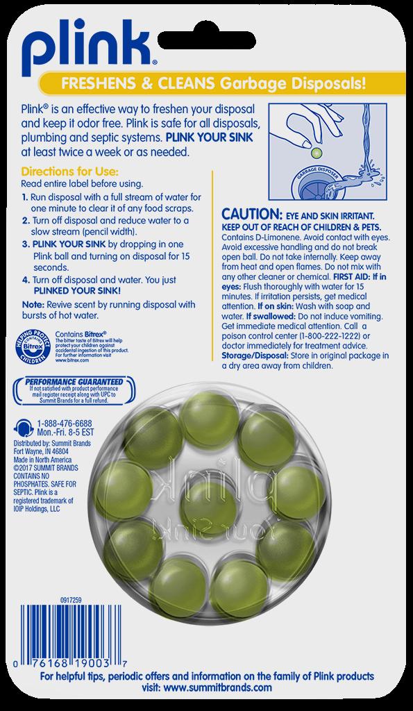 Plink® Garbage Disposal Freshener & Cleaner – Simply Fresh
