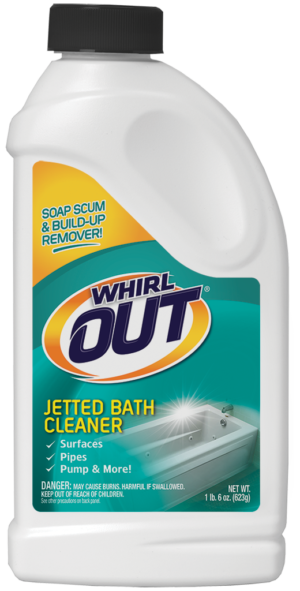 Whirl OUT Jetted Bath Cleaner for Spas & Whirlpools Package Front; SKU WO31B