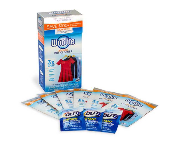 Woolite At-Home Dry Cleaner with stain wipes