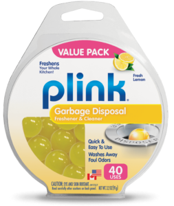 Plink garbage disposal freshener & cleaner Lemon scent 40 count value pack product package