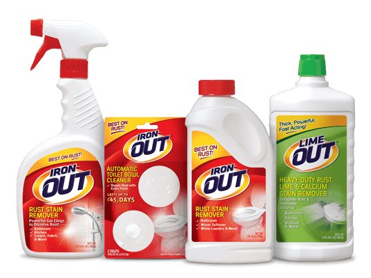 Iron OUT Rust Stain Remover product packaging lineup