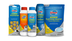Glisten Appliance Cleaners & Boosters product packages